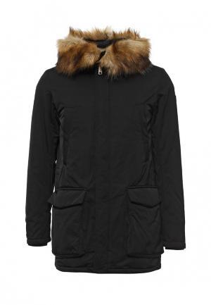 Куртка утепленная Armani Jeans. Цвет: черный