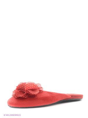 Тапочки Kapprise. Цвет: красный