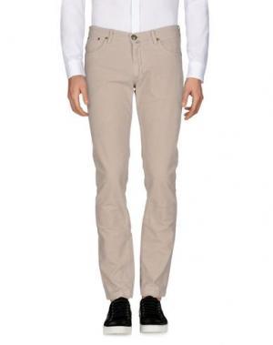 Повседневные брюки B SETTECENTO. Цвет: светло-серый