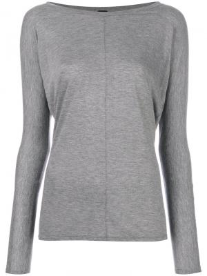 Long sleeve T-shirt Alexandre Vauthier. Цвет: серый
