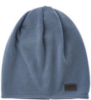 Синяя шерстяная шапка Capo. Цвет: синий
