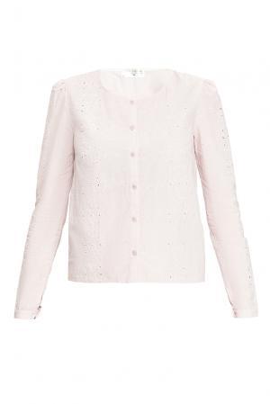 Блуза из хлопка 165212 Villa Turgenev. Цвет: розовый