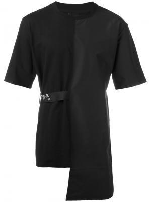 Асимметричная футболка D.Gnak. Цвет: чёрный