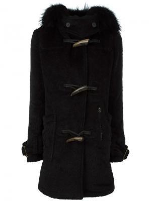 Пальто с капюшоном L.G.B.. Цвет: чёрный