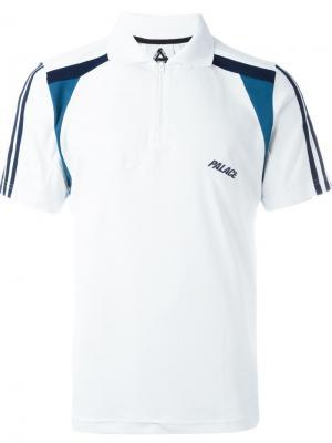 Футболка-поло Adidas Originals X Palace. Цвет: белый