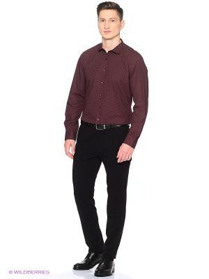 Рубашка Oodji. Цвет: бордовый, кремовый