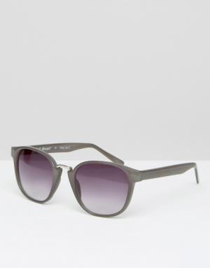 AJ Morgan Круглые солнцезащитные очки. Цвет: серый