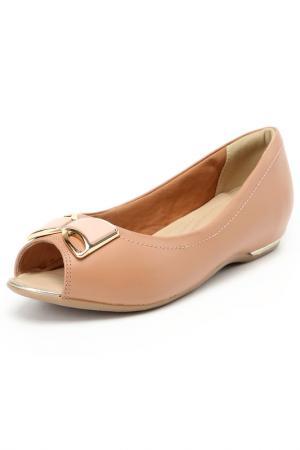 Туфли летние RIDLSTEP. Цвет: коричневый, розовый