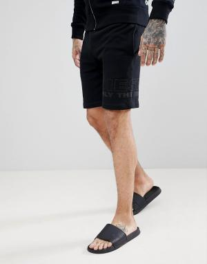 Diesel Черные шорты для дома. Цвет: черный