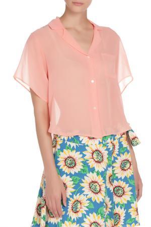 Блузка American Apparel. Цвет: розовый