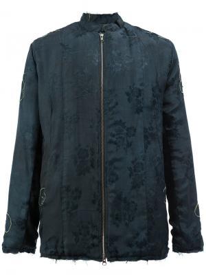 Жаккардовая куртка с цветочным рисунком By Walid. Цвет: синий