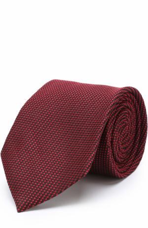 Шелковый галстук с узором Tom Ford. Цвет: красный