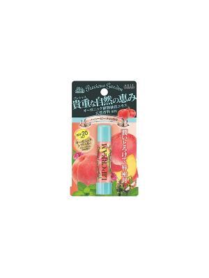 Бальзам для губ Сладкий персик с органическими экстрактами растений Kose Cosmeport PRECIOUS GARDE. Цвет: розовый
