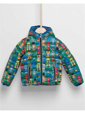 Куртка INCITY. Цвет: синий,зеленый,оранжевый