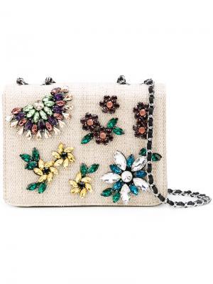 Декорированная сумка на плечо Essentiel Antwerp. Цвет: телесный