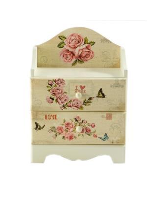 Шкатулка Прованс Русские подарки. Цвет: розовый, белый