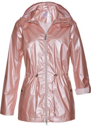 Парка из блестящего материала (розово-золотистый) bonprix. Цвет: розово-золотистый