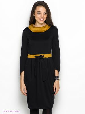 Платье DOCTOR E. Цвет: черный, горчичный