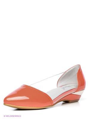 Туфли Vitacci. Цвет: коралловый