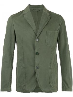 Пиджак на трех пуговицах Aspesi. Цвет: зелёный