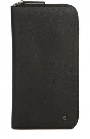 Бумажник Giorgio Armani. Цвет: черный