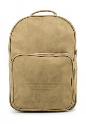 Рюкзак adidas Originals. Цвет: бежевый
