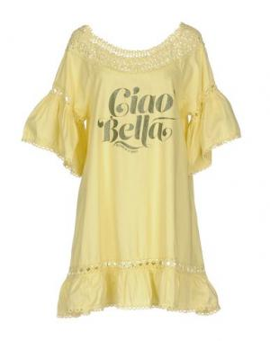 Короткое платье AU SOLEIL DE SAINT TROPEZ. Цвет: желтый