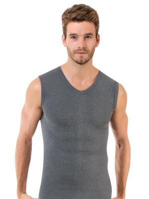 Майка мужская Oztas underwear. Цвет: светло-серый, серый