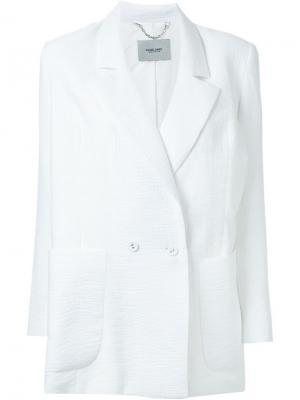 Фактурный двубортный пиджак Rachel Comey. Цвет: белый