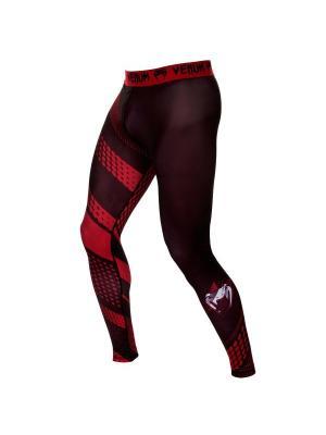 Компрессионные штаны Venum Rapid Black/Red. Цвет: красный, черный