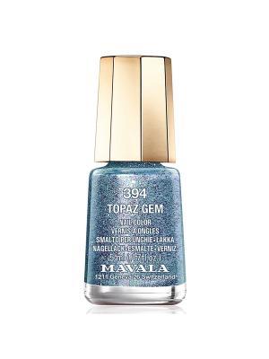 Лак для ногтей тон 394 Topaz Gem Mavala. Цвет: голубой