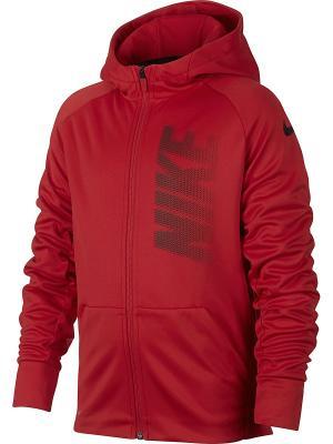 Толстовка B NK THRMA HOODIE FZ GFX Nike. Цвет: красный