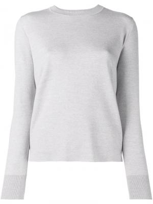 Легкий трикотажный свитер Adam Lippes. Цвет: серый