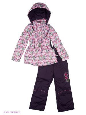 Комплект для девочки демисезонный /куртка, полукомбинезон/ Rusland. Цвет: розовый, темно-фиолетовый