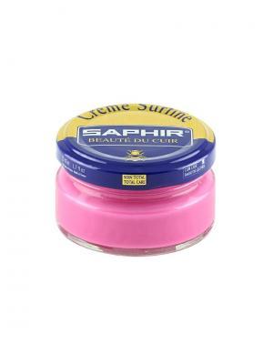 Крем банка СТЕКЛО Creme Surfine, 50мл. (72 - СВЕТЛО-РОЗОВЫЙ) Saphir. Цвет: бледно-розовый