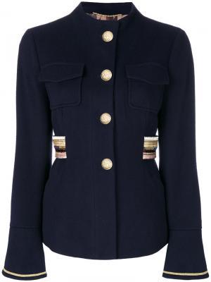 Пиджак с нагрудными карманами Bazar Deluxe. Цвет: синий