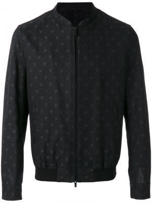 Embroidered bomber jacket Fendi. Цвет: чёрный