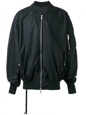 Классическая куртка-бомбер Unravel Project. Цвет: чёрный
