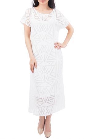 Свободное платье с рукавами Крылышко EUROPEAN CULTURE. Цвет: белый