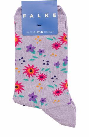 Носки с принтом Falke. Цвет: лиловый