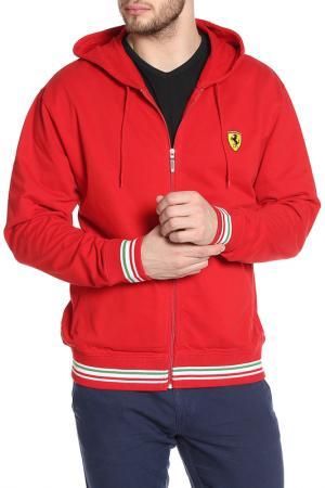 Толстовка с капюшоном Ferrari. Цвет: красный