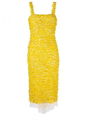 Floral midi dress Isabela Capeto. Цвет: жёлтый и оранжевый