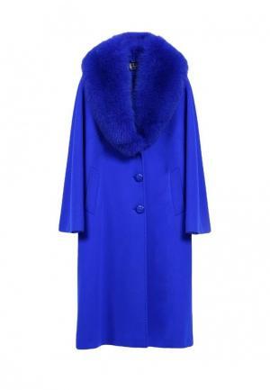 Пальто Heresis. Цвет: синий