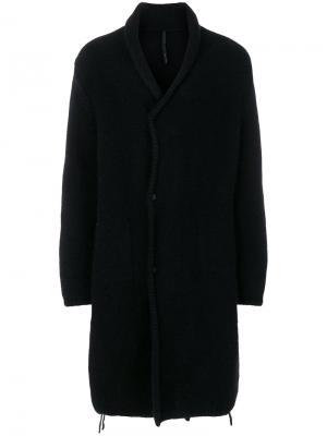Длинное трикотажное пальто Poème Bohémien. Цвет: чёрный