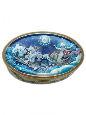 Чай Hilltop Волшебная луна 100 гр. овал. шкатулка Снежная королева, шт. Цвет: черный, зеленый
