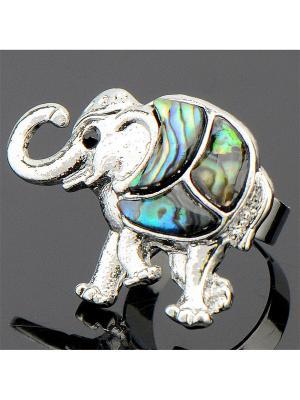 Кольцо Галиотис Слон Колечки. Цвет: зеленый