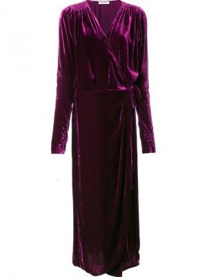 Платье Jane Attico. Цвет: розовый и фиолетовый