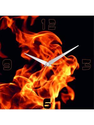 Картина стеновая с часовым механизмом ДСТ. Цвет: красный