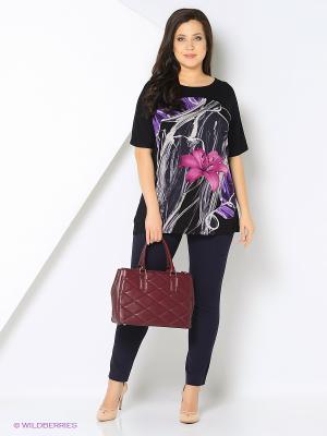 Блузка Remix. Цвет: черный, фиолетовый, розовый
