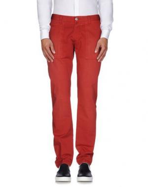 Повседневные брюки BETWOIN. Цвет: красный